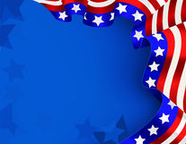 4th of July background. Vector of  US celebration card Stock Photography