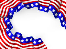 4th of July background. Vector of  US  patriotic background Stock Photo