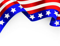 4th of July background. Vector of  US patriotic card Royalty Free Stock Photo