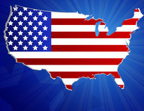 4th of July background. Vector of  US patriotic map Stock Photos