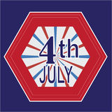 4th July badge Royalty Free Stock Photography