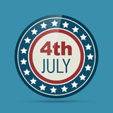 4th of july badge Royalty Free Stock Photo