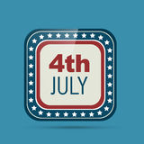 4th of july badge Royalty Free Stock Photos