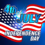 4th of July. Fourth of July Card. Independence Day Invitation. Happy Independence Day 4th of July Background Stock Images