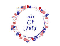 4th of july banner. 4th of july red and blue banner Stock Illustration