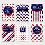 4th July banner set Stock Images