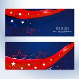 4th of july banners collection Royalty Free Stock Photo