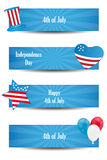 4th of july banners. Set of four 4th of july or Independence day banners on white background. EPS file available Stock Image