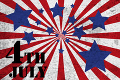 4th of July. Based theme with blue stars and red and white bars stock illustration