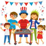 4th of July BBQ stock photo