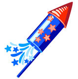 4th july blue rocket Stock Images