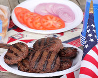 4th of July Burgers Royalty Free Stock Image