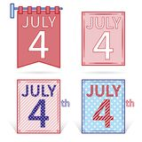 4th of July calendar day icon. US Independence Day. Vector. Illustration Royalty Free Stock Photography