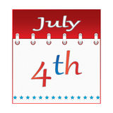 4 th of july calendar. Vector stock illustration