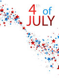 4th July card with stars. White USA Independence Day card with colorful stars. Vector paper illustration Royalty Free Stock Photos