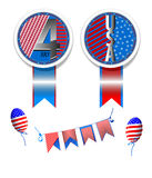 4 th july cards Royalty Free Stock Photo