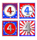 4 th july cards Stock Photo