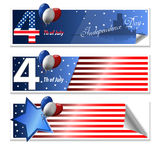 4 th july cards Stock Photography