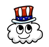 4th Of July Cartoon Cloud. Digital illustration of a cartoon cloud Stock Image