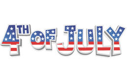 4th of july cartoon sign Royalty Free Stock Photos