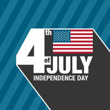 4th of July celebration background. Happy Independence Day. Retr Stock Photography