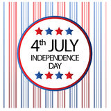 4th July celebration background. Illustration of 4th July celebration background design Royalty Free Stock Image