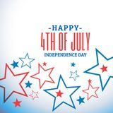 4th of july celebration background. Vector Royalty Free Stock Image