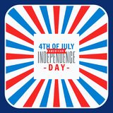 4th of july celebration background. Vector royalty free illustration