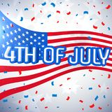 4th of july celebration background. Vector stock illustration