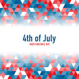 4th of July celebration background. Vector illustration. Royalty Free Stock Photo