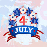 4th of July celebration for Happy Independence Day of America. Vector illustration of 4th of July celebration for Happy Independence Day of America Royalty Free Stock Photo