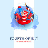 4th of July celebration for Happy Independence Day of America Royalty Free Stock Photography