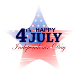 4th of July celebration for Happy Independence Day of America. Vector illustration of 4th of July celebration for Happy Independence Day of America Stock Image