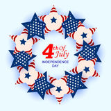 4th of July celebration for Happy Independence Day of America Royalty Free Stock Images