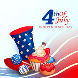 4th of July celebration for Happy Independence Day of America Royalty Free Stock Photos