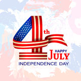 4th of July celebration for Happy Independence Day of America. Vector illustration of 4th of July celebration for Happy Independence Day of America Royalty Free Stock Image