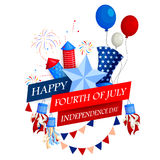 4th of July celebration for Happy Independence Day of America. Vector illustration of 4th of July celebration for Happy Independence Day of America Vector Illustration