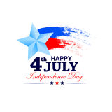 4th of July celebration for Happy Independence Day of America. Vector illustration of 4th of July celebration for Happy Independence Day of America Stock Photos
