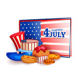 4th of July celebration for Happy Independence Day of America Stock Photography