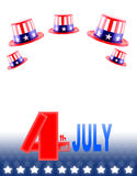 4th of July celebration hat Stock Photography