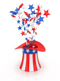 4th of July celebration hat. 4th of July celebration hat  on white Royalty Free Stock Images
