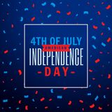 4th of july celebration party background. Vector Stock Image