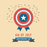 4th of July celebration ribbon icon. American Independence Day. 4th of July celebration ribbon icon. American Independence Day, Line icon Style. Vector Royalty Free Stock Photo