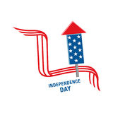 4th of July celebration symbol. Happy Independence Day. Vector illustration Royalty Free Stock Photo