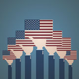 4th July Celebration Usa Flag. Abstract Background royalty free illustration