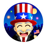 4th of July Character. A cute character celebrating the US holiday, 4th of July Royalty Free Stock Photos