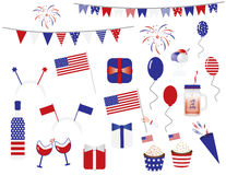 4th of july cliparts Stock Image