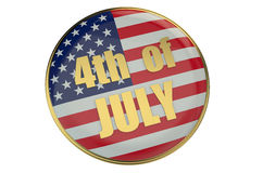 4th of July concept with badge Royalty Free Stock Photo