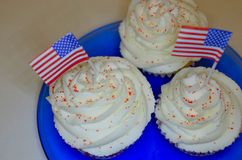 4th of July Cupcakes Stock Images