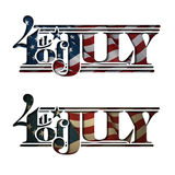 4th of July Cut-Out Stock Photography